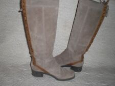 "Nine West Vintage America ""Dourado"" Suede LeatherTall Riding Boots  7.5 M"