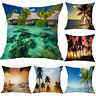 Pillow Case Beach Cushion Cover Summer Coconut Vacation Scenery Home Decoration