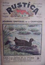 REVUE RUSTICA N° 45  10 NOVEMBRE 1935  CHASSE DE LA FOULQUE