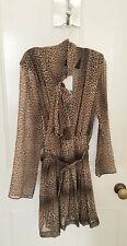 Ladies Zara Leopard Print Chiffon Mini Dress With High Collar XXL BNWT LAST ONE