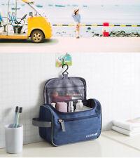 Mens Womens Blue Travel Cosmetic shaving organiser Wash Toiletry Waterproof bag