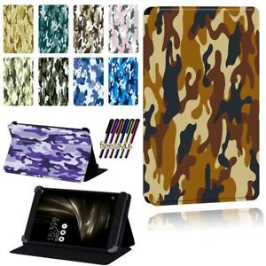 """Camouflage Smart Stand Case cover For Asus ZenPad 7.0"""" 8.0"""" 10"""" / S 8.0 / C 7.0"""