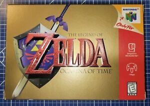 Legend of Zelda: Ocarina of Time for Nintendo 64 N64 1998 CIB Complete box link