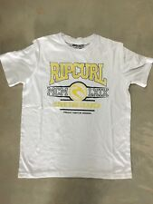 Boy's Ripcurl Sz 12 Shirt Cotton T-shirt White/Yellow