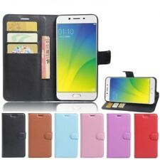 """For OPPO A57 5.2"""" PU Leather Wallet Card Pocket Premium Shockproof Case Cover"""