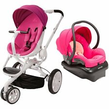 Quinny Moodd Travel System in Pink Passion Includes Stroller & Mico Car Seat!