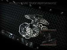 Marine Globe & Anchor Emblem/Badge ATV/UTV/Truck Grilles *Satin Black/Satin Blk