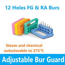Dental Bur Block Rectangular Lab Bur Guard Holder Station Holds 12 Burs Fg Ra