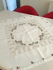 """CHRISTMAS DECORATED TABLECLOTH 34"""" x 34"""""""