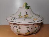 Soupière ancienne légumier faience XVIII 18 siècle céramique française