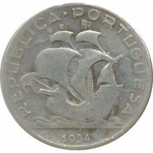 PORTUGAL 5 ESCUDOS 1934 TB