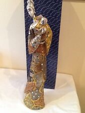 "Masai with baby,klimt design,gold resin,18.5""(47cms),by shudehill,new,rrp £37.99"