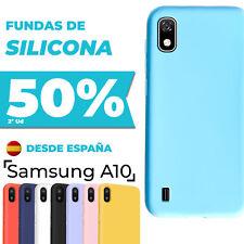 Funda Samsung Galaxy A10 Carcasa Silicona + Protector De Pantalla Opcional