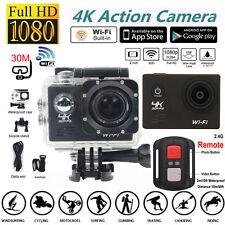 Waterproof 4K Ultra HD 1080P SJ8000R Wifi Sport Action Camera Cam+Remote Control