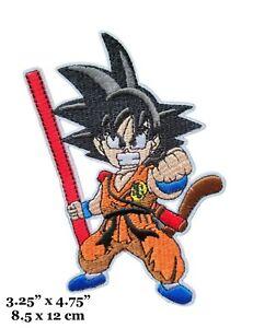 Dragon Ball Z Series Goku Saiyan Character Figure Embroidered Iron On Patch