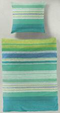 Bierbaum Bettwäsche Streifen grün, blau - ozean - 155 x 220cm Renforcé Übergröße