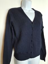 NINE & Co. Womens Size Small Navy Blue Button Up Knit Cardigan