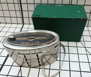 Vintage  Barclays Bank Limited Home Safe  Moneybox with  original box.
