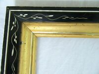 "ANTIQUE FITS 8 X 10"" LEMON GOLD GILT PICTURE FRAME WOOD GESSO FINE ART COUNTRY"