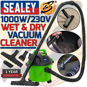 SEALEY WET AND DRY VACUUM CLEANER 10L 1000W / 240V WATER DIRT CARPET WASHER