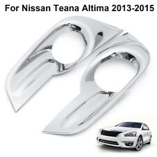 Chrome Front Fog Lights Lamp Cover Trim Frame For Nissan Teana Altima 2013-2015