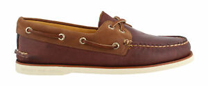 SPERRY GOLD CUP AUTHENTIC/ORIGINAL TWO EYE - BURGUNDY/BROWN; BROWN/OLIVE