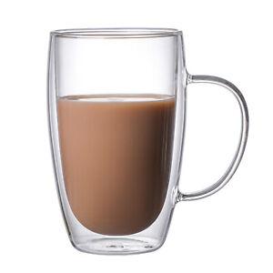 High Borosilicate Glass Coffee Mug Heat-resistant Home Durable Water Cup