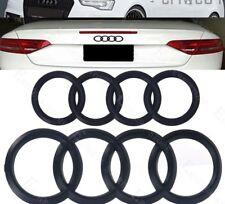 06-12 Audi Ring Black MATTE Front Rear A3 A4 S4 A5 S5 A6 S6 SQ7 TT Badge Emblem