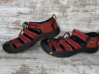 Keen Newport H2 Waterproof Trail Hiking Sandals Maroon Red Youth Boys Size 5