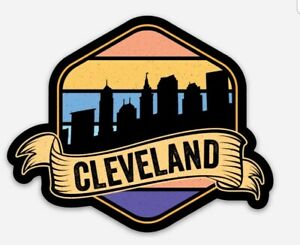 Cleveland Ohio STICKER - Rock N Roll Browns Cavaliers Indians Downtown