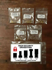 High Security Lock Pins - Spool, Serrated, T-Pin - Upgrade Your Locks - 60 Pins