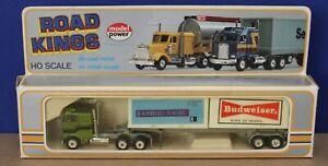Model Power Playart 7755 Road Kings HO 1:87  Kenworth COE w Containers Budweiser