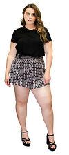 Juniors Womens Plus Size Shorts Black Stretch Confortable Boho Hippie Summer