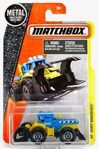 2016 Matchbox #44 Dirt Smasher™ BLUE / YELLOW / INC CONSTRUCTION / MOC