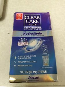 Clear Care PLUS 3% Hydrogen Peroxide w/ Hydraglyde 3oz - NEW - WH4