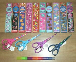 Smiggle Stasionery Scented Pencil Pack X 4 Scissors Stax On Scented Highlighter