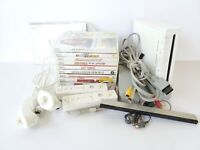 Nintendo Wii White Console Bundle 9 Games 2 Controllers Tested Working Manuals