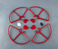 4x Red SNAP ON/OFF PROP GUARDS QUICK RELEASE DJI PHANTOM 1 2 3 Pro Adv Vision +