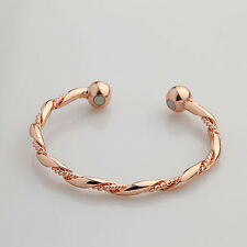 Women Men Copper Magnetic Bracelet Therapy Arthritis Pain Healing Cuff Bangle C6