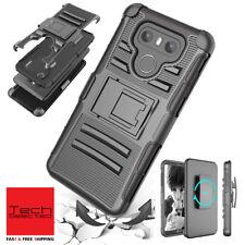 Heavy Duty Full Body Armor Shield Kickstand Belt Holster Cases Cover for LG G6