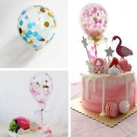 1pc Balloon Confetti  Party Birthday Cake Topper Insert Latex  Colorful Decor UK