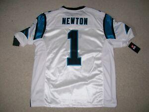 NEW$150 NIKE XXL CAM NEWTON OnField Carolina Panthers NFL Jersey Throwback White