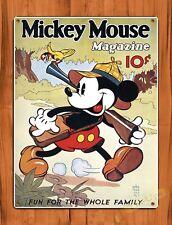 TIN SIGN Walt Disney Mickey Mouse Magazine 10 Cents Cartoon Movie Art Poster
