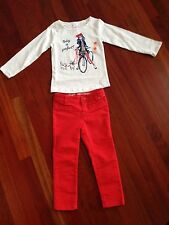 NWT Gymboree Mod About Orange Girls Size 4 Two Piece Outfit/Set Today Is Perfect