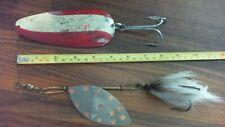 "Vintage Huskie Devle Spoon Fishing Lure 5-1/2"" Detroit Usa + One Homemade Lure"
