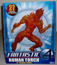 "Toybiz 12"" Poseable Fantastic 4 Human Torch Action Figure Sealed 2005"