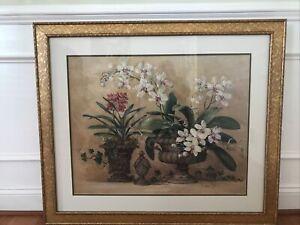 Barbara Mock 40x34 Glass Gold Framed Magnolia Print