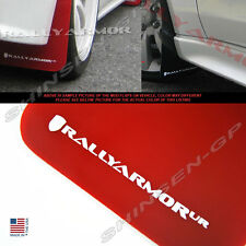 Rally Armor UR Red Mud Flaps w/ White Logo for 2007-2017 Lancer DE ES Sedan
