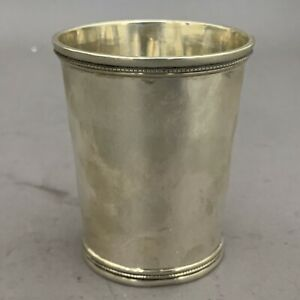 John Kitts Louisville Kentucky Southern Coin Silver Mint Julep Cup c.1870