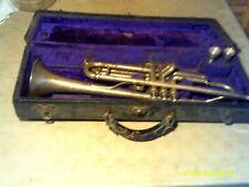 Vintage Martin Handcraft Dansant Trumpet Original Case plus 2  Mouthpieces
